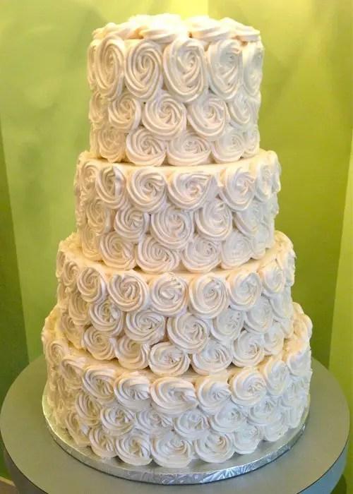 Rosette Wedding Cake Classy Girl Cupcakes