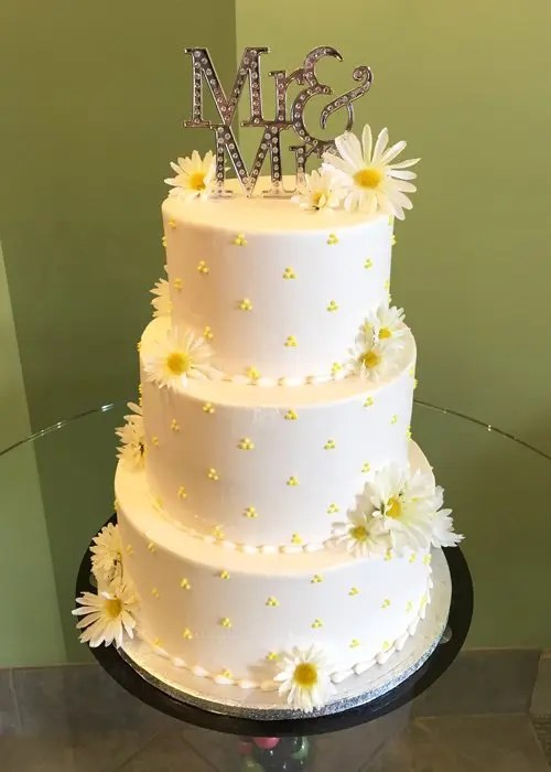 Swiss Dot Wedding Cake Classy Girl Cupcakes