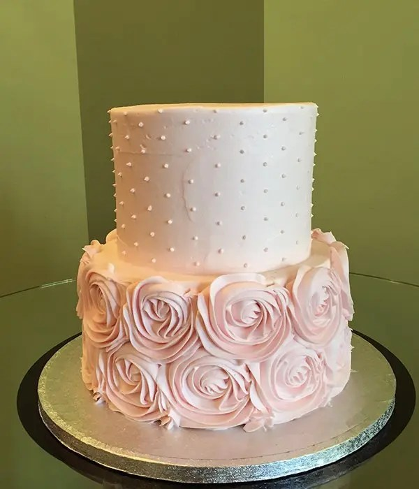 Simple Two Layer Wedding Cakes