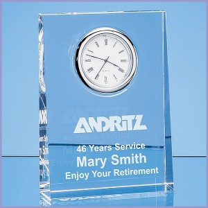 Engraved Glass Clocks