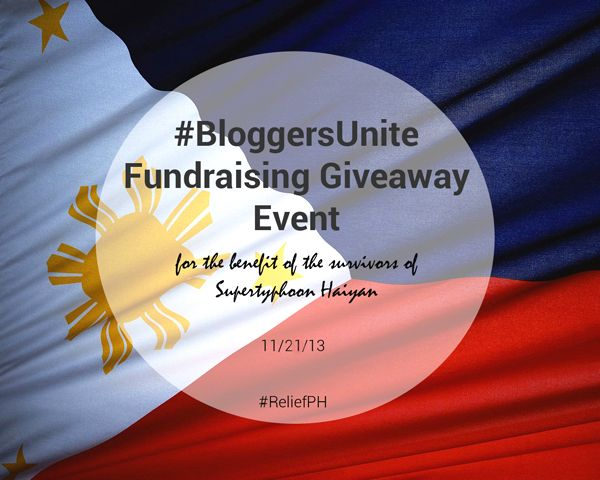 Bloggers Unite: A Fundraising Giveaway Event For The Victims Of Typhoon Haiyan