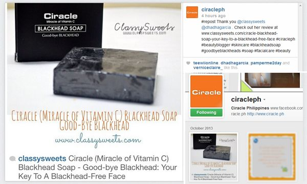 Press: Featured at Ciracle Philippines | Instagram