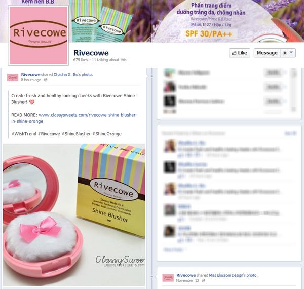 Press: Featured at Rivecowe | Facebook
