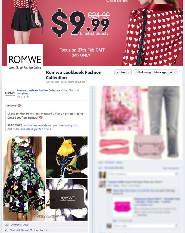 Press: Featured at Romwe Lookbook Fashion Collection | Facebook