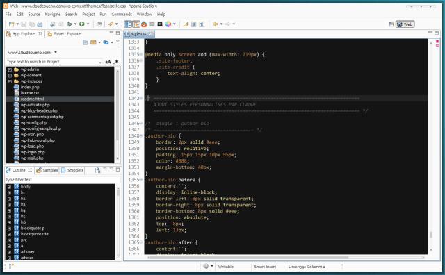 Aptana Studio 3 : outil pour développeur web