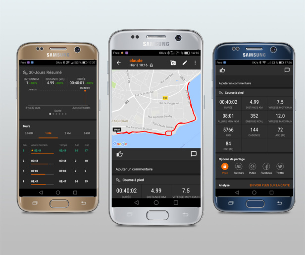 Sport Tracker l'application running mobile
