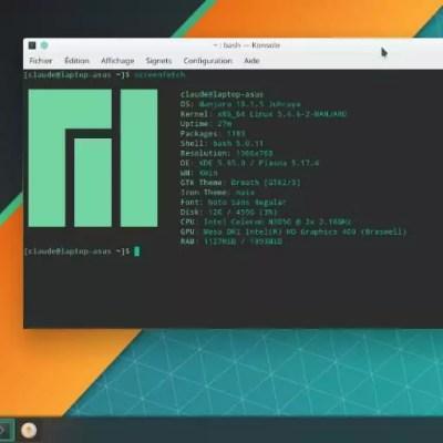 ScreenFetch – Afficher des informations sur le système Linux sur un terminal