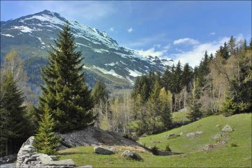 Paysage de montagne au Crot