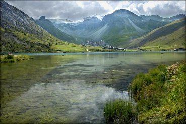 Lac de Tignes, reflets