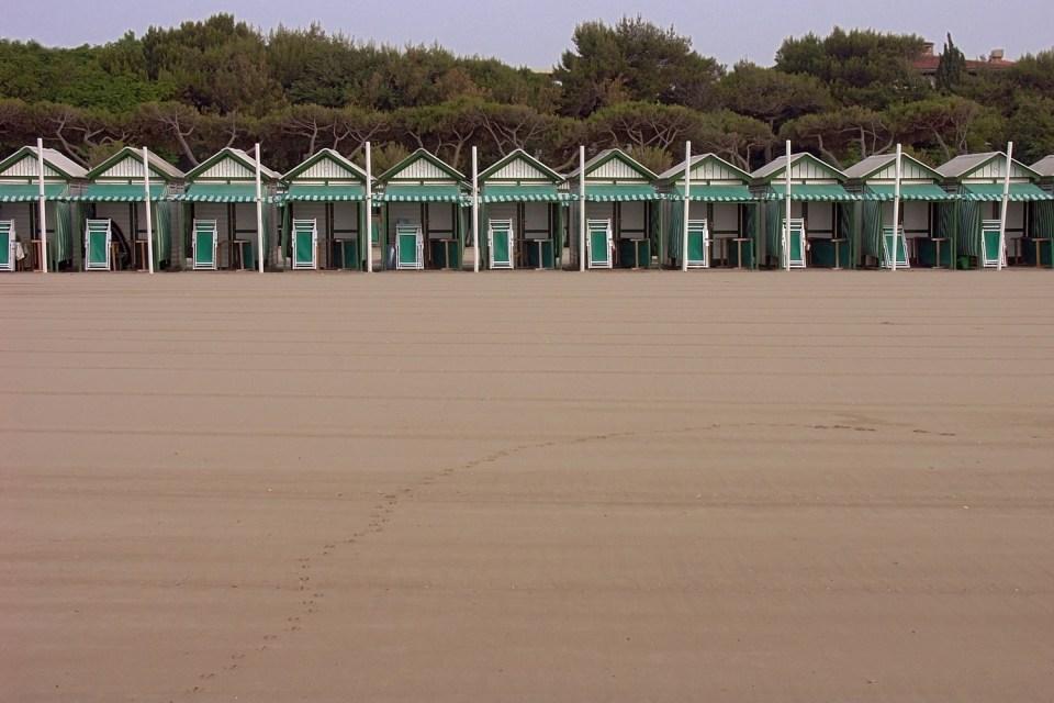Claude Varieras. Hotel des Bains beach, Venice Lido