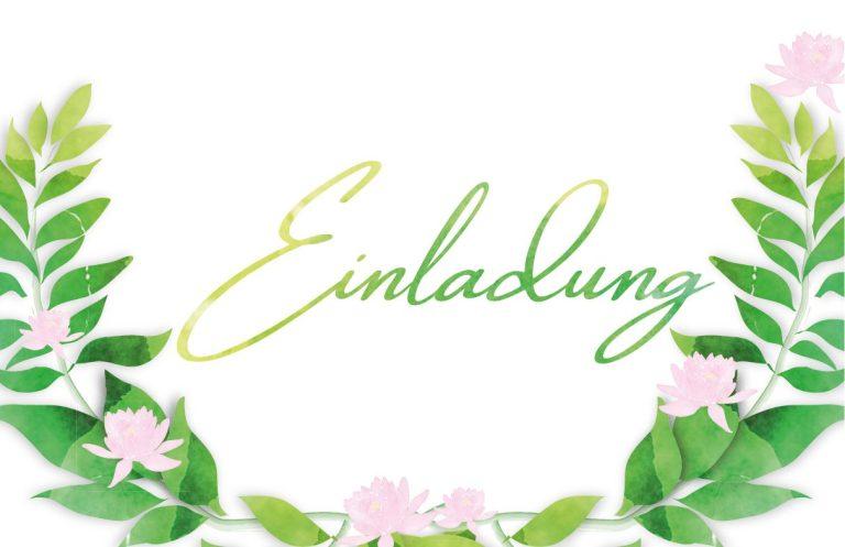 Einladungskarte zur Sommerparty in Aquarell Optik von Claudia Link Fotografie und Grafikdesign aus Nürnberg Erlangen Roth