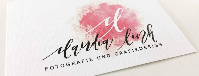 Aquarell Visitenkarten Für Claudia Link Fotografie Und