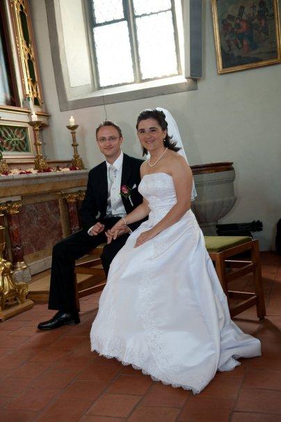 Claudia und Mathias nach der Trauung