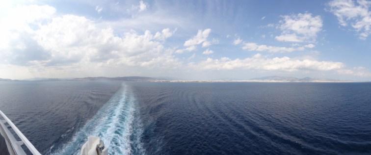 Wegfahrt von Athen