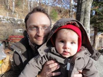 Lucas David in Amden mit Papa