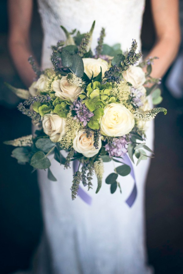 country chic lavander and roses bouquet