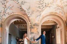 First Look - Tuscany wedding