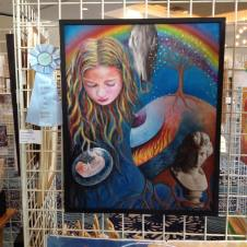 """""""cycle of life"""" painting by Claudia Dose won honorable mention"""