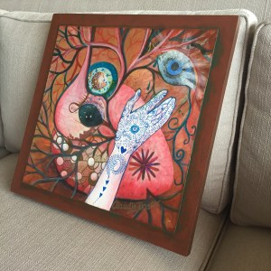 """Heart Wisdom"" painting by ClaudiaDose"