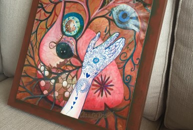 """""""Heart Wisdom"""" painting by ClaudiaDose"""