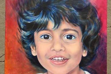 Portrait of small child by Claudia Dose