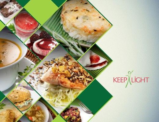 Painel com diversos tipos de refeições, pudins, sanduiches, sopas, tapioca, saladas, todas dentro de losangos pequenos