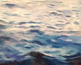 Meer. Öl auf Malplatte, 50 x 40 cm, 2015