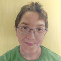 Kinderportrait. Öl auf Malplatte, 30 x 30 cm, 2015