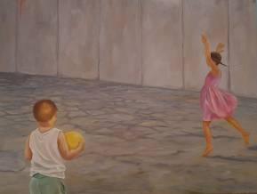Play the game. Öl auf Malplatte, 80 x 60 cm, 2017