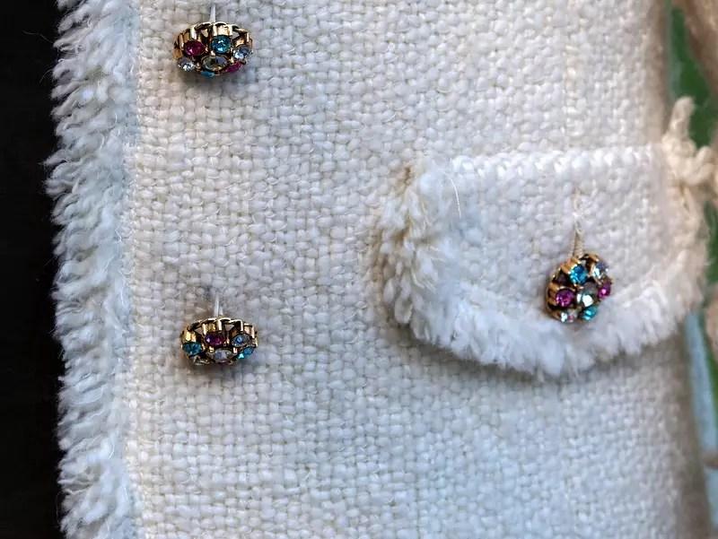 Jacke im Chanelstil Detail