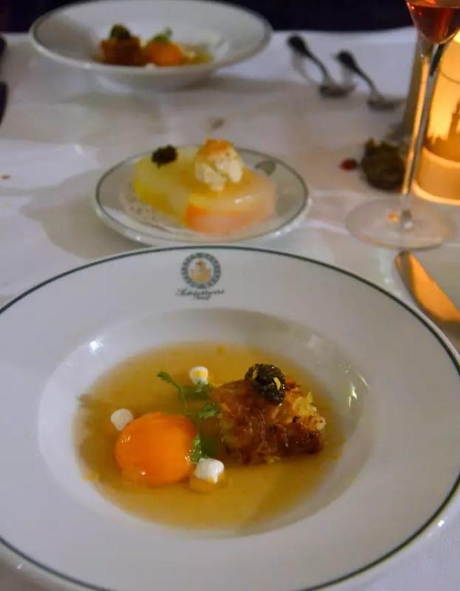 Erdapfel Kaviar Eigelb