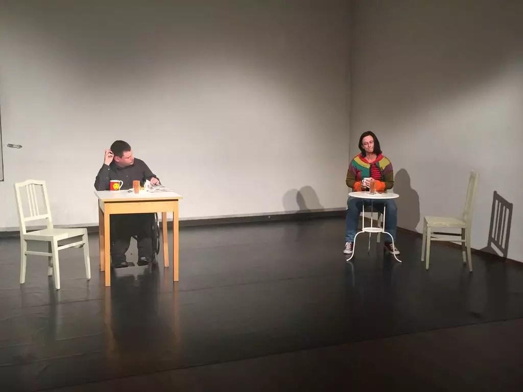 Schapiel Besuch mit Florian Jung auf der Bühne
