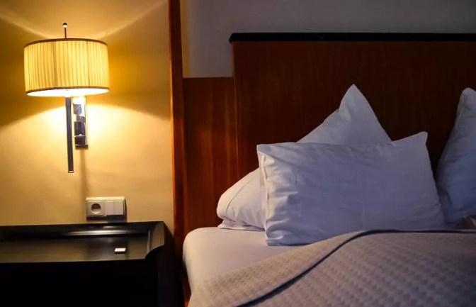 Schlafzimmer in der Suite im Hotel Falkensteiner