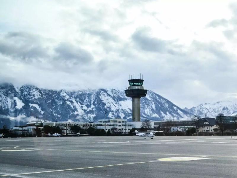 Winter am Flughafen Salzburg
