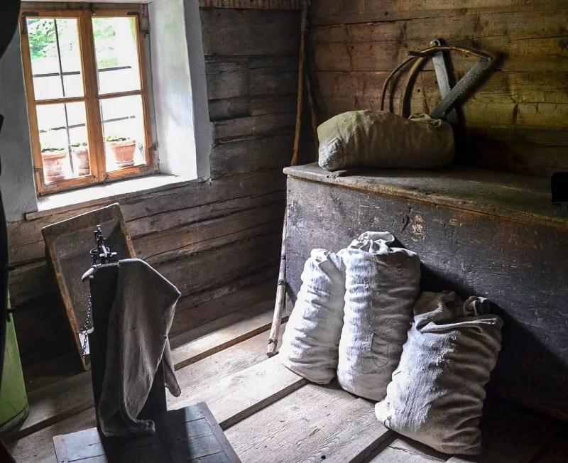 Mehlsäcke im Freilichtmuseum