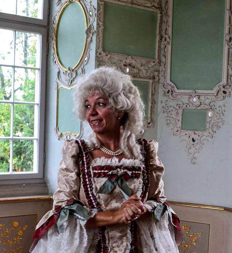 Gräfin Monfort im Schloss Tettnang