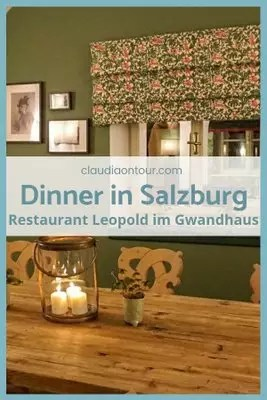 Restaurant Leopold im Gwandhaus in Salzburg. Stammtisch