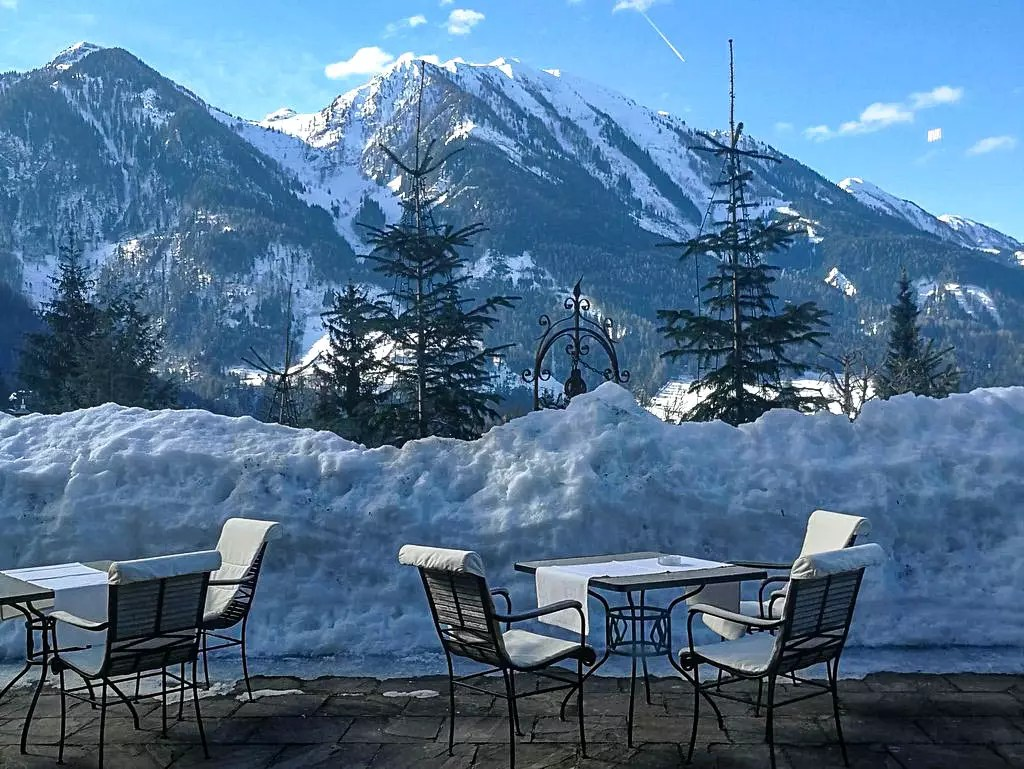 Oberforsthof Terrasse im Winter