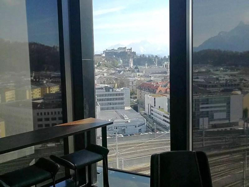 Arte Hotel Salzburg Blick auf Altstadt