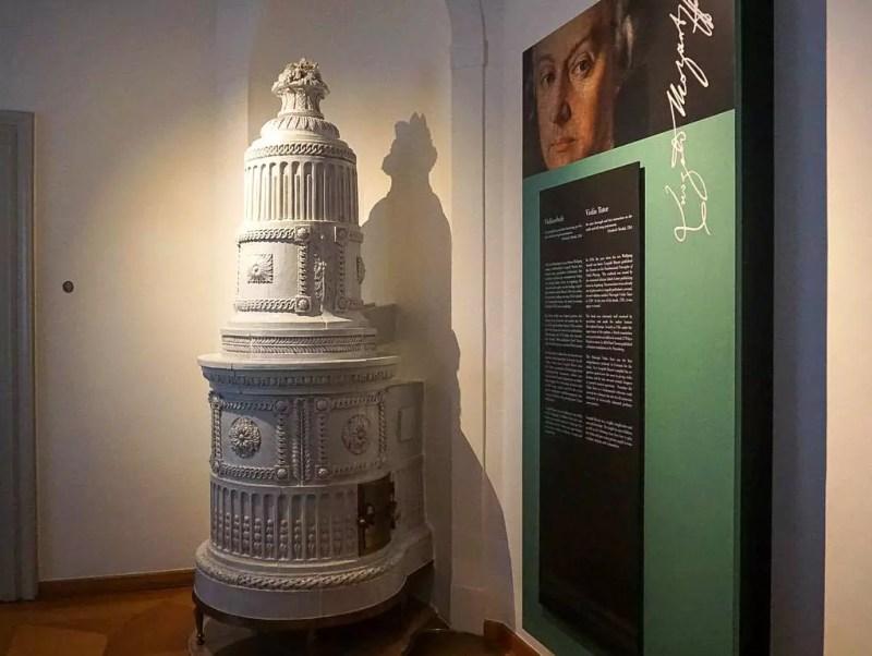 Kachelofen im Mozart Wohnhaus