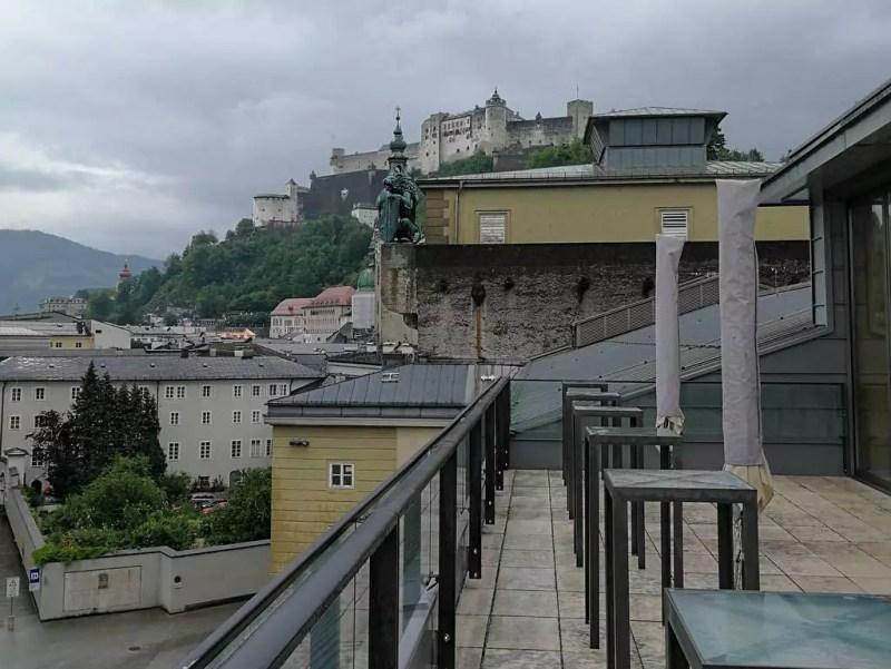 Terrasse Haus für Mozart