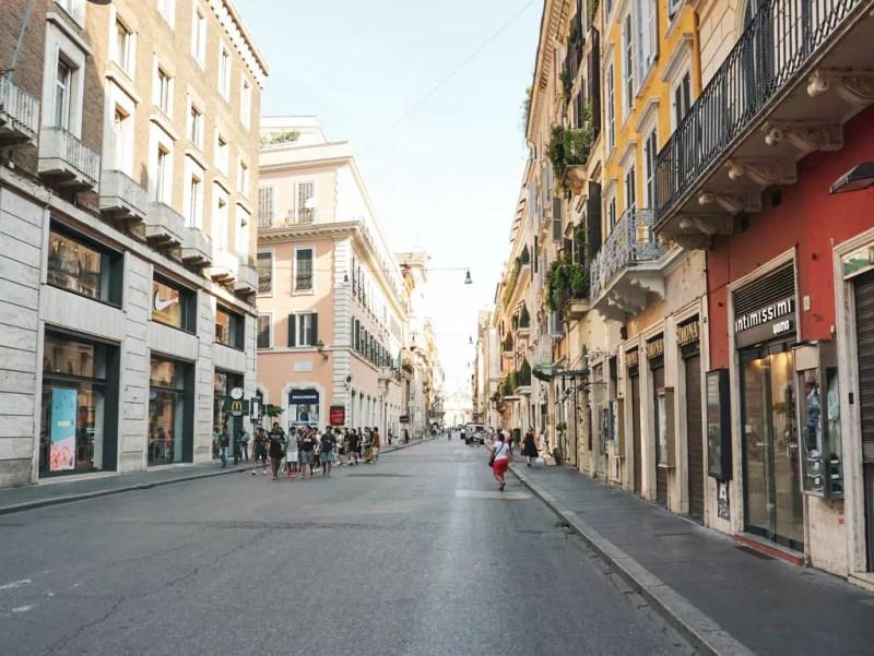 Via del Corso Straße in Rom