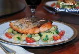 Crispy Salmon with Potato Salad
