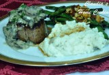 Filet Mignon with Mushroom Parsley Cream Sauce