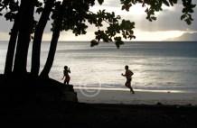 running on the beach