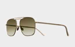 cutler and gross gold and brown sunglassres 80s style 1310