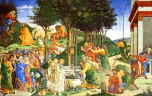 Exodus Mosè Botticelli