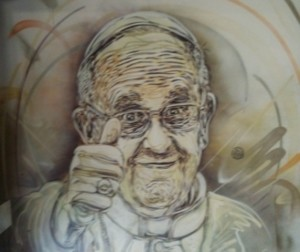 crocifisso falce Martello Papa Francesco Copertina