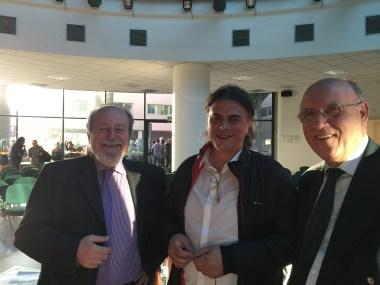 Una foto con il prof. Barberis e Luca Tomio che ha scoperto per primo la Cascata delle Marmore in un dipinto di Leonardo