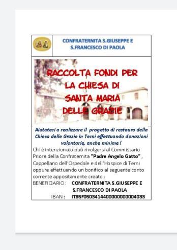 Santa Maria delle Grazie Raccolta Fondi